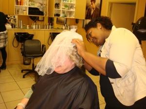the veil gets adjusted
