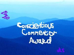 Conscientious Commentor Award
